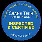 Crane Tech Certification Logo